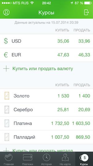 Обмен валюты в сбербанк онлайн на сегодня